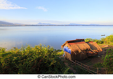 Mekong River at sunrise, Pakse - Laos