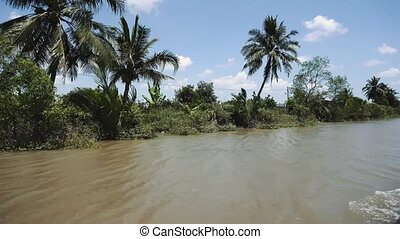 Mekong River in Vietnam, South East Asia 4k - Mekong River ...