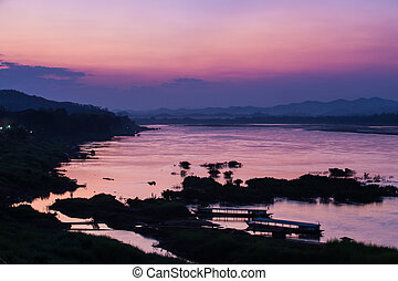 mekong river, thailand and laos