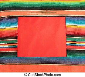 meksyk, fiesta, poncho, kilim, w, jasny, pas, tło, z, kopiować przestrzeń