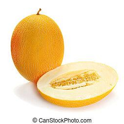 melão, amarela