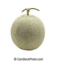 melão, branca, isolado, fundo