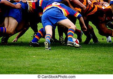 melé, rugby