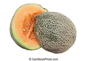 melón de roca, mitades