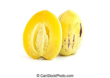 melón, pepino