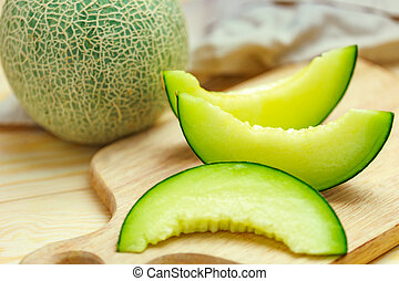 melón, verde
