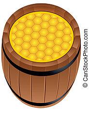mel, barril