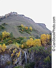mel, cachoeiras, autumn., não