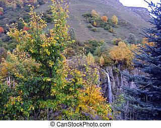 mel, cachoeiras, autumn., n