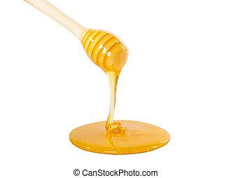 mel, gotejando