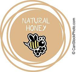 mel, natural, ícone