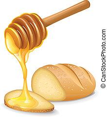 mel, pão