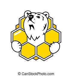 mel, sinal, urso