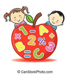 mela, bambini