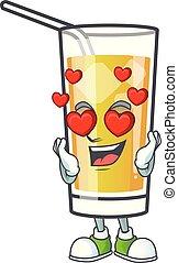 mela, cartone animato, amore, carattere, sidro