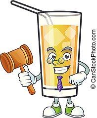 mela, cartone animato, carattere, mascotte, sidro, giudice