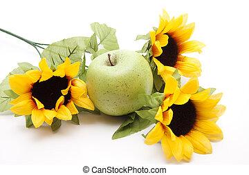 mela, girasole