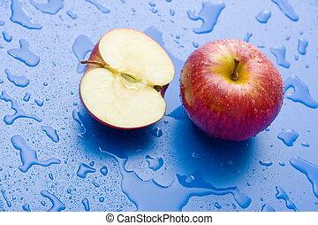 mela intera, mezzo