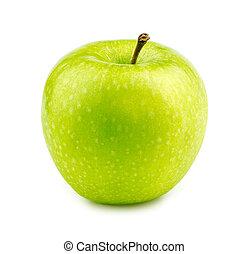 mela, macro, fabbro, isolato, verde, nonna