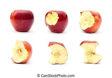 mela, mangiato