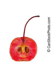 mela, mezzo, granchio