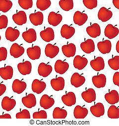 mela, modello, bianco, fondo