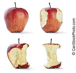 mela, morso, frutta, dieta sana, cibo