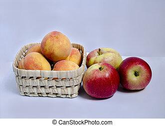 mela, pesca, frutte