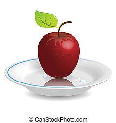 mela, piattino
