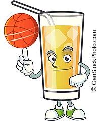 mela, presa a terra, dolce, cartone animato, pallacanestro,...