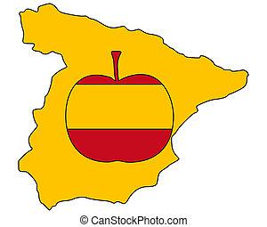 mela, spagnolo
