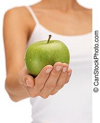mela verde, femmina porge