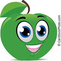 mela verde, mascotte