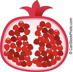melagrana, frutta, illustrazione