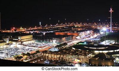 Melaka City and Parking Lot of Shopping Mall, Malaysia