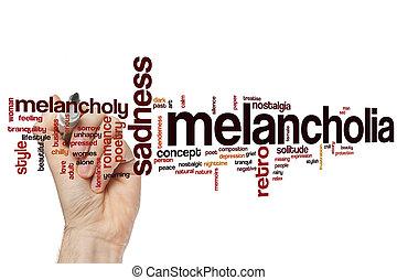 Melancholia word cloud
