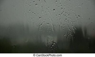 Melancholy, rain, depression outside. Heavy rain 22. -...