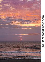 Melancholy Sunrise Sea