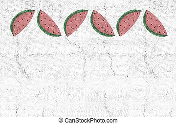 melancia, ilustração