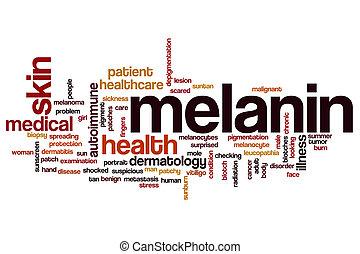melanin, conceito, palavra, nuvem