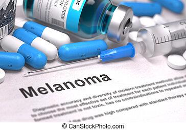 melanom, diagnosis., medizin, concept.