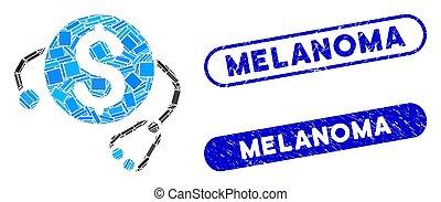 melanoma, mozaika, finansowy, nerpy, strapienie, zdrowie, ...