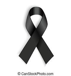 melanoma, symbol., opłakiwanie, tło., czarnoskóry, wstążka, ...