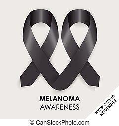 melanoma, wstążka