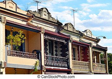 Victorian house - MELBOURNE - APR 14 2014:Double storey ...