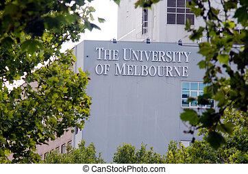 University of Melbourne - MELBOURNE - APR 14, 2014:The faced...