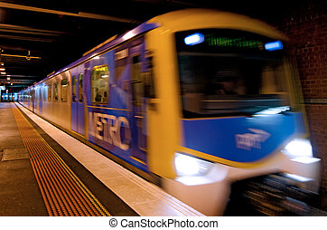 Metro Trains Melbourne - MELBOURNE, AUS - APR 11 2014:Metro ...