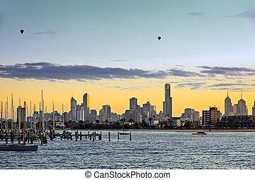 Melbourne Australia at Dawn