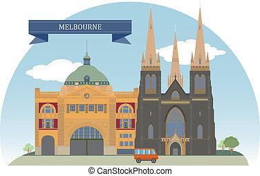 Melbourne, Australia. Vector for you design