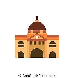 melbourne building australia icon on white background